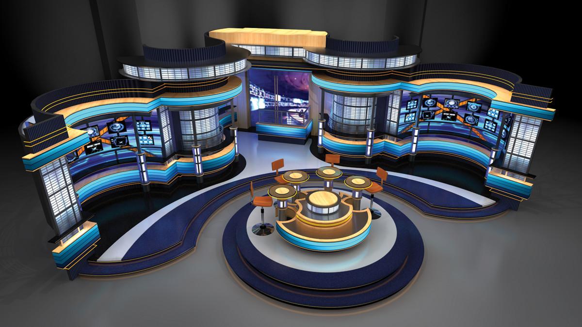 Tv News Sports Weather Set Designs By Park Place Studio