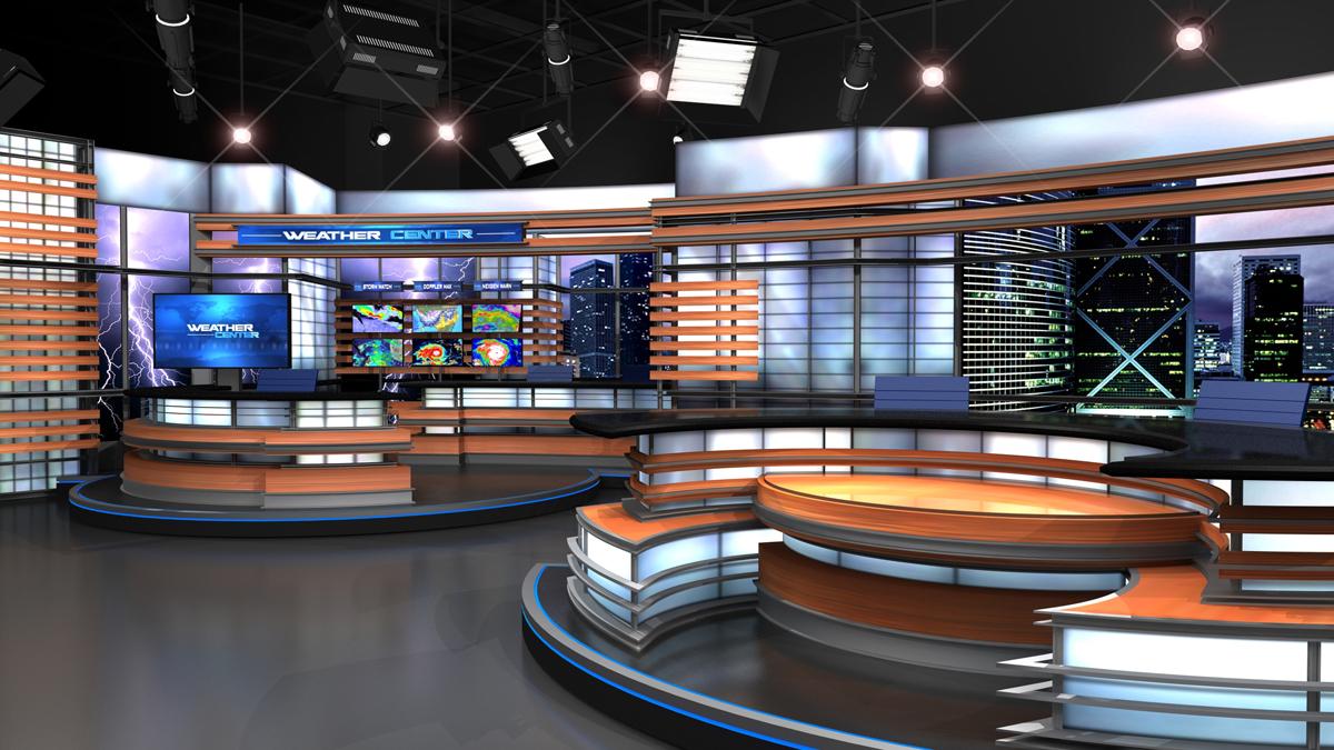 News Set Designs Park Place Studio Designers TV Cable