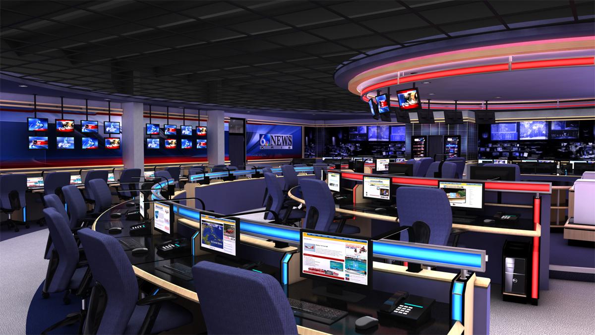 TV News Sports Weather Set Design Park Place Studio